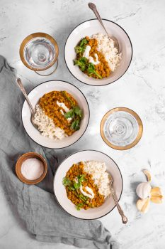 Spicy Coconut Lentil Curry - Spice & Heat